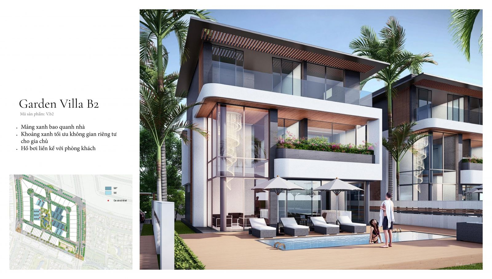 Thiết kế biệt thự sân vườn swanbay oasia