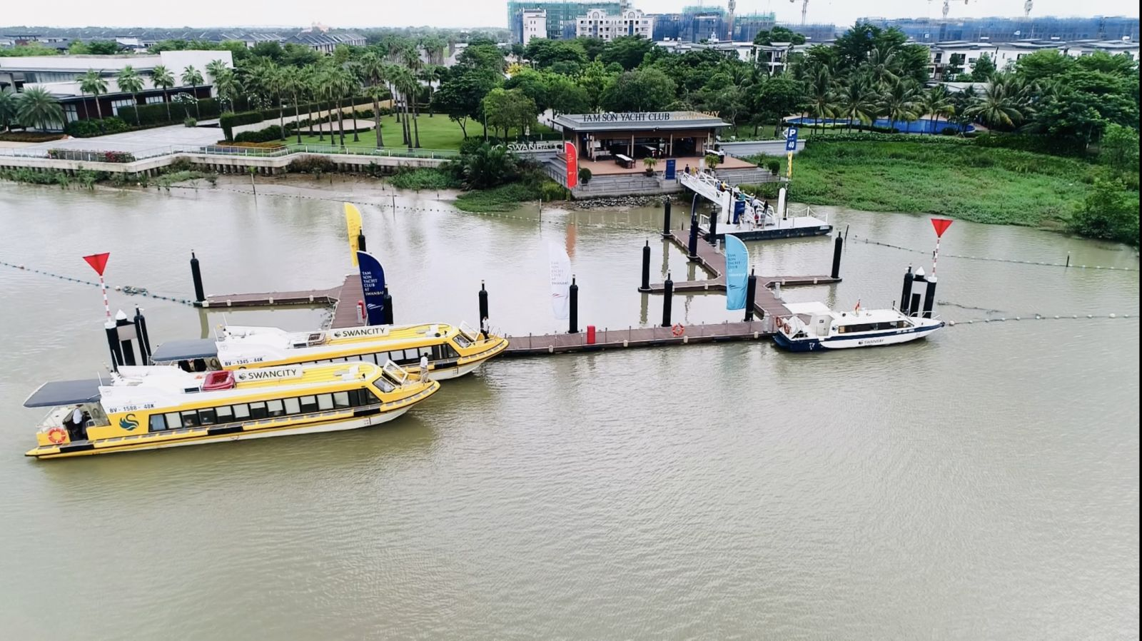 Bến du thuyền swan bay đảo đại phước